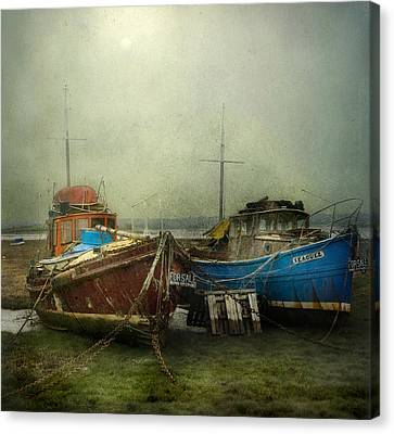 Canvas Print featuring the photograph Boats For Sale by Brian Tarr