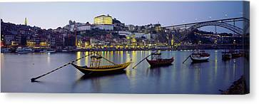 Dom Canvas Print - Boats In A River, Douro River, Porto by Panoramic Images