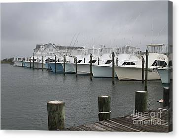 Boats In A Row 2 Canvas Print