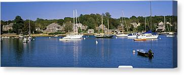 Boats In An Ocean, Provincetown, Cape Canvas Print by Panoramic Images