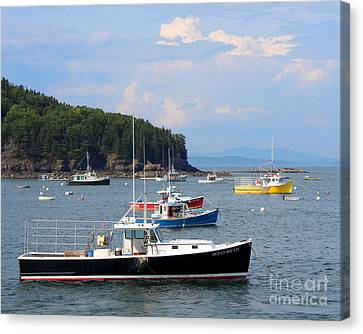 Canvas Print featuring the photograph Boats In Bar Harbor by Jemmy Archer