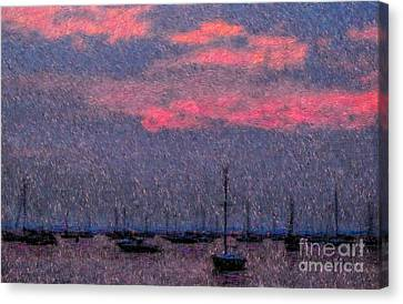 Boats In Harbor Canvas Print by Jeff Breiman