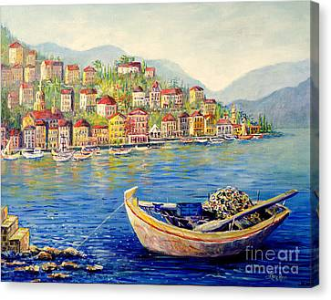 Boats In Italy Canvas Print