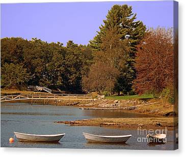 Canvas Print featuring the photograph Boats In Kennebunkport by Gena Weiser