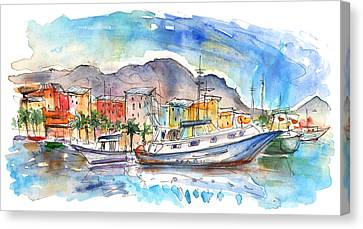 Boats In Porticello 04 Canvas Print by Miki De Goodaboom