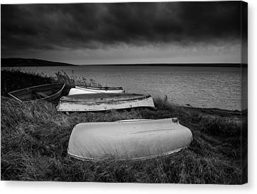 Boats In Storm Canvas Print