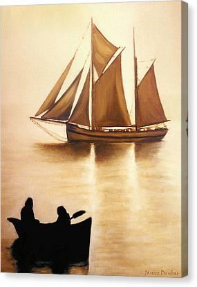 Boats In Sun Light Canvas Print