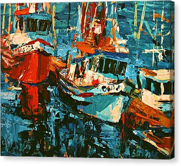 Masterful Canvas Print - Boats In Turquoise by Brian Simons