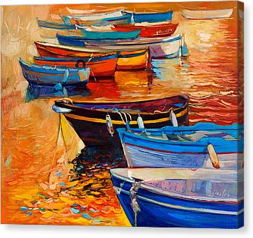 Boats Canvas Print by Ivailo Nikolov
