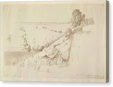 Boats Leaving Patna Canvas Print by British Library