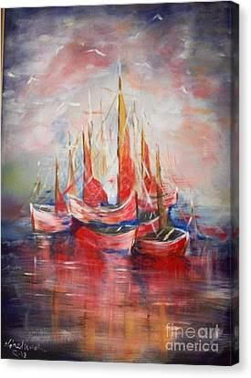 Boats Canvas Print by Nahed Ismaeil