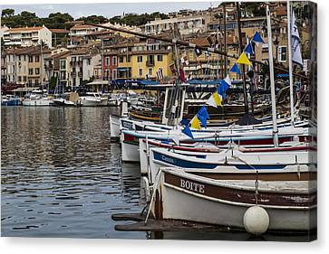 South Of France Harbor Canvas Print by Georgia Fowler