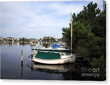Boats Of Long Beach Island Color Canvas Print by John Rizzuto