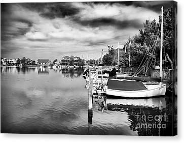 Boats Of Long Beach Island Canvas Print by John Rizzuto