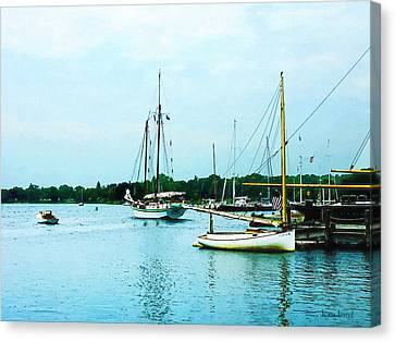 Canvas Print featuring the photograph Boats On A Calm Sea by Susan Savad
