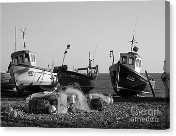 Boats On Beer Beach Canvas Print