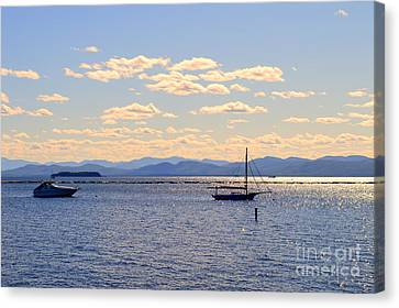 Boats On Lake Champlain Vermont Canvas Print