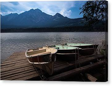 Boats On Pyramid Lake Canvas Print by Cale Best