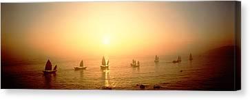 Boats Shantou China Canvas Print