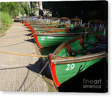 Canvas Print featuring the photograph Boats Waiting For Kids by Doc Braham