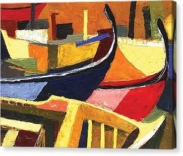 Boatyard Canvas Print by Ahmed Amir