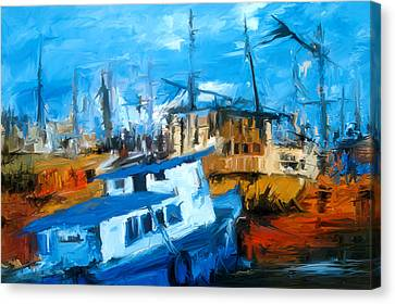 Boatyard Canvas Print by Amir