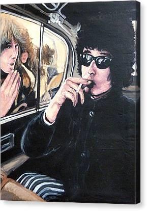 Bob Dylan 1966 Canvas Print by Tom Roderick