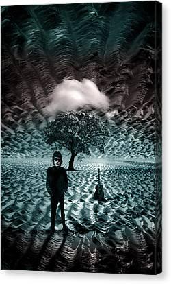 Bob Dylan A Hard Rain's A-gonna Fall Canvas Print by Mal Bray