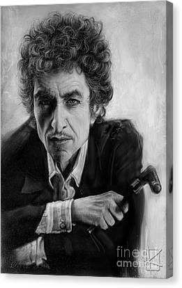 Bob Dylan Canvas Print by Andre Koekemoer