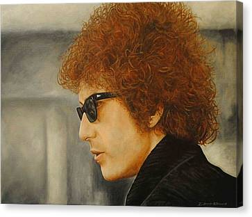 Canvas Print featuring the painting Bob Dylan IIi by David Dunne