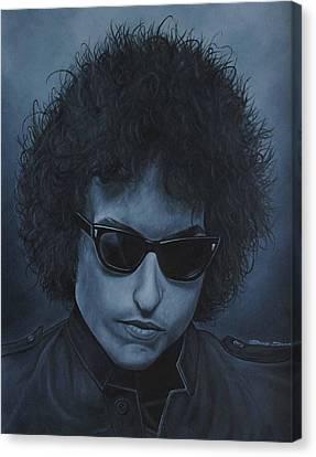 Bob Dylan Iv Canvas Print by David Dunne