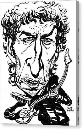 Bob Dylan Canvas Print by John Ashton Golden