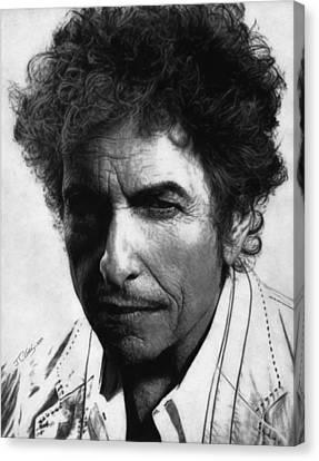 Bob Dylan  Canvas Print by Justin Clark