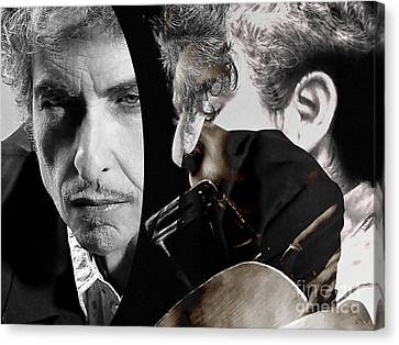 Bob Dylan Canvas Print by Marvin Blaine