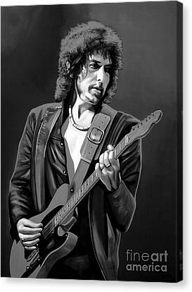 Bob Dylan Canvas Print by Meijering Manupix