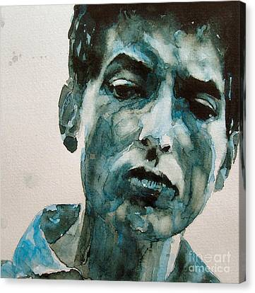 Bob Dylan Canvas Print by Paul Lovering