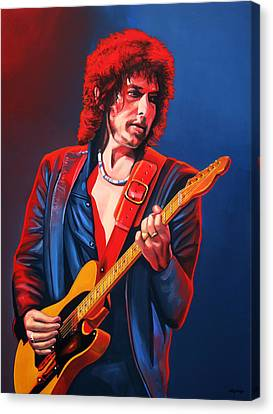 Artwork On Canvas Print - Bob Dylan Painting by Paul Meijering