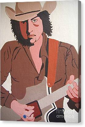 Bob Dylan - Celebrities Canvas Print