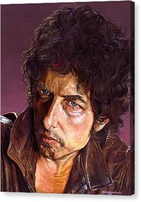 Bob Dylan Canvas Print by Timothy Scoggins