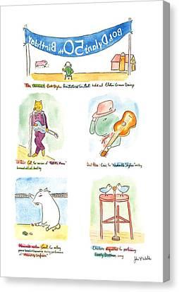 Bob Dylan's 50th Birthday Canvas Print by John S.P. Walke