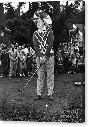 Bob Hope At Bing Crosby National Pro-am Golf Championship  Pebble Beach Circa 1955 Canvas Print