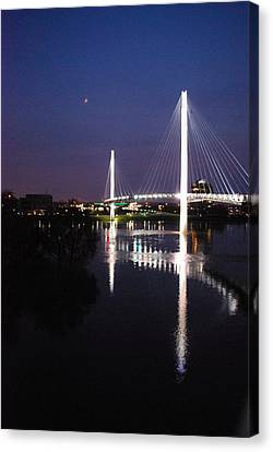 Bob Kerry Pedestrian Bridge Canvas Print by Joy Bradley