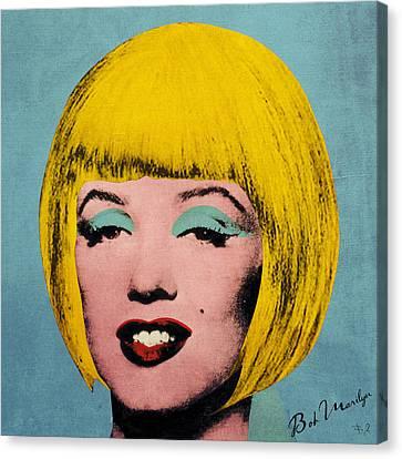 Bob Marilyn  Canvas Print by Filippo B