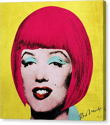 Bob Marilyn  Variant 1 Canvas Print by Filippo B