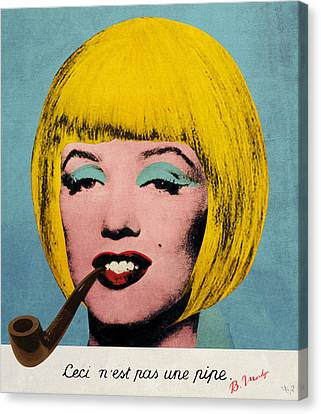 Bob Marilyn  With Surreal Pipe Canvas Print by Filippo B
