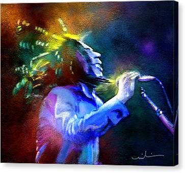 Bob Marley 01 Canvas Print by Miki De Goodaboom