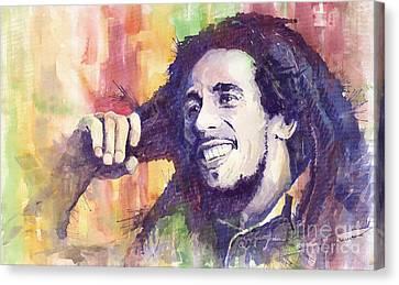 People Canvas Print - Bob Marley 02 by Yuriy  Shevchuk