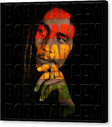 Bob Marley 1 Canvas Print by Andrew Fare