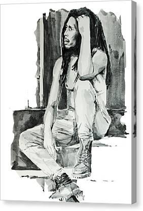 Dread Canvas Print - Bob Marley 10 by Bekim Art
