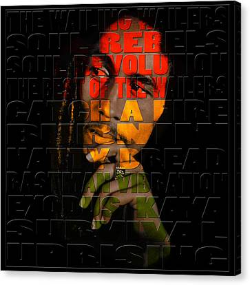 Bob Marley 2 Canvas Print by Andrew Fare